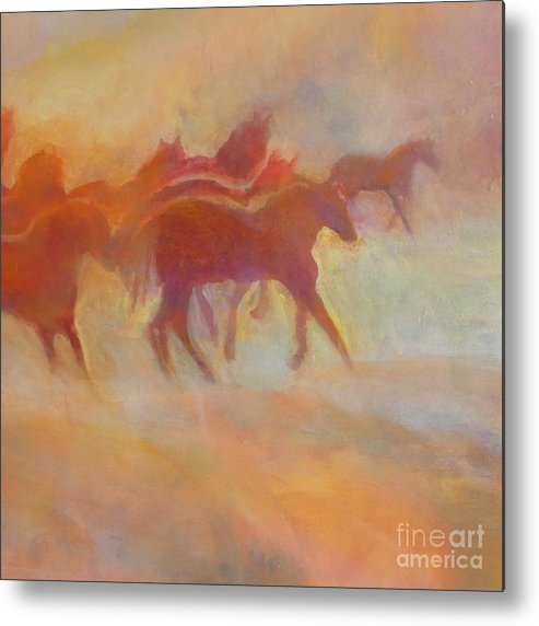 Horse Metal Print featuring the painting Lookin To Race I by Kip Decker
