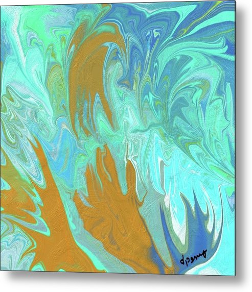 Abstract Art Metal Print featuring the digital art Lost by D Perry