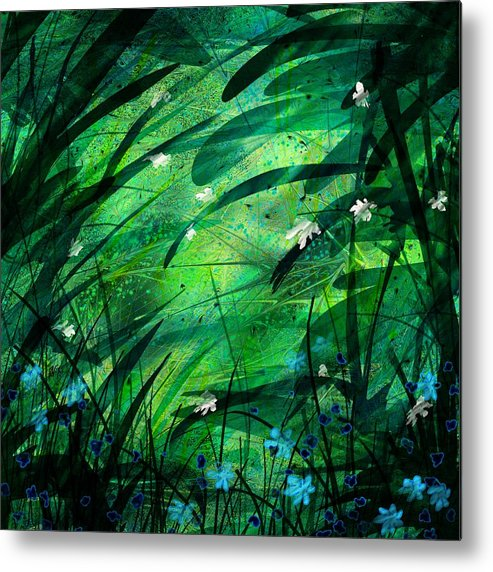 Abstract Metal Print featuring the digital art Lost In Paradise by Rachel Christine Nowicki