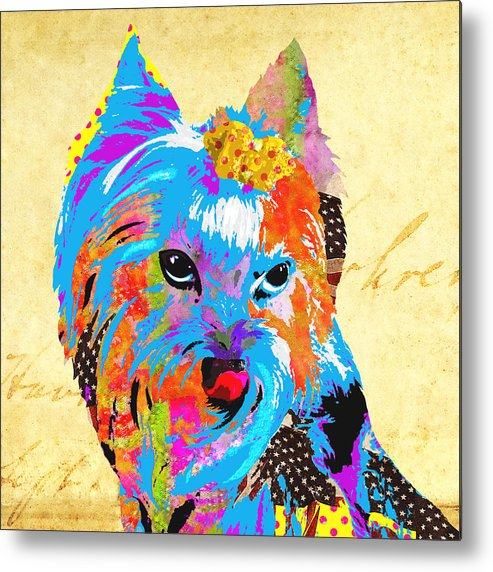 Dog Metal Print featuring the mixed media Love Is In The Dog's Eyes by Stacey Chiew