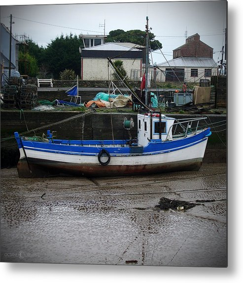 Boat Metal Print featuring the photograph Low Tide by Tim Nyberg