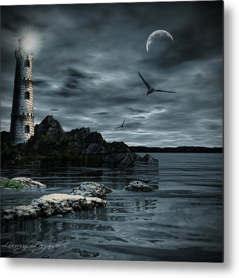 Lighthouse Metal Print featuring the photograph Lucent Dimness by Lourry Legarde