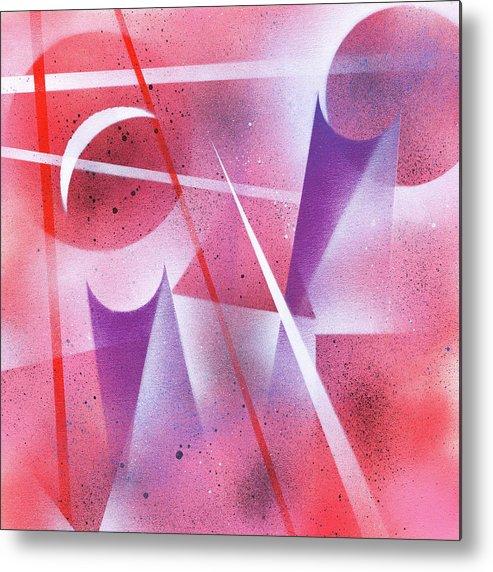 Spray Metal Print featuring the painting Lunar Eclipse by Hakon Soreide