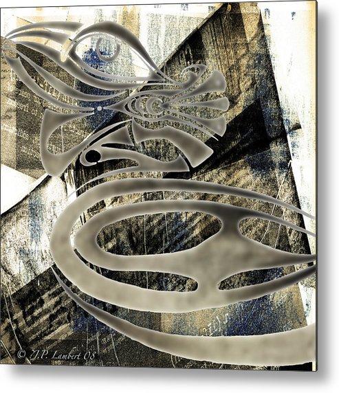 Design Metal Print featuring the digital art Mamallis by J P Lambert
