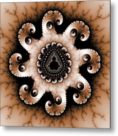 Abstract Metal Print featuring the digital art Mandala Dz3 by David April