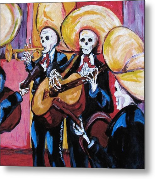 Mariachi Metal Print featuring the painting Mariachi IIi by Sharon Sieben