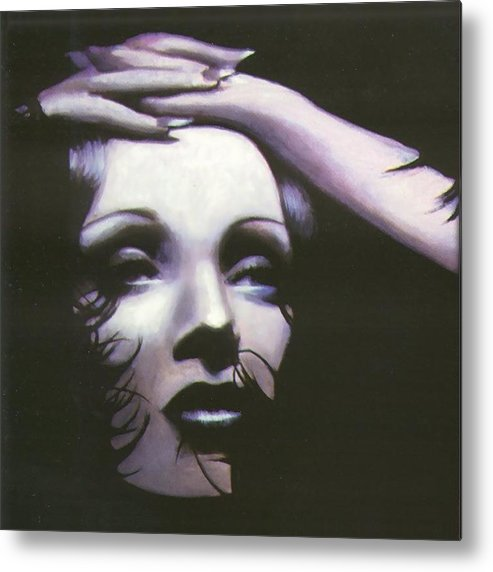 Woman Metal Print featuring the painting Marlene Dietrich by Elizabeth Silk