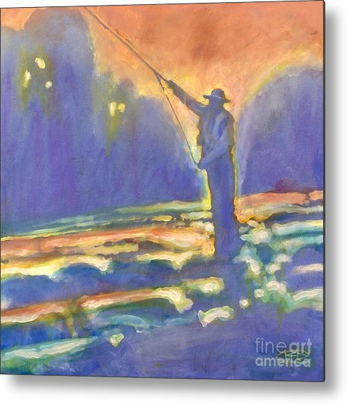 Fishing Metal Print featuring the painting Miracle Moment by Kip Decker