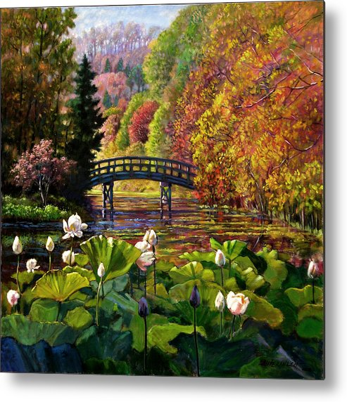 Landscape Metal Print featuring the painting Missouri Memories by John Lautermilch