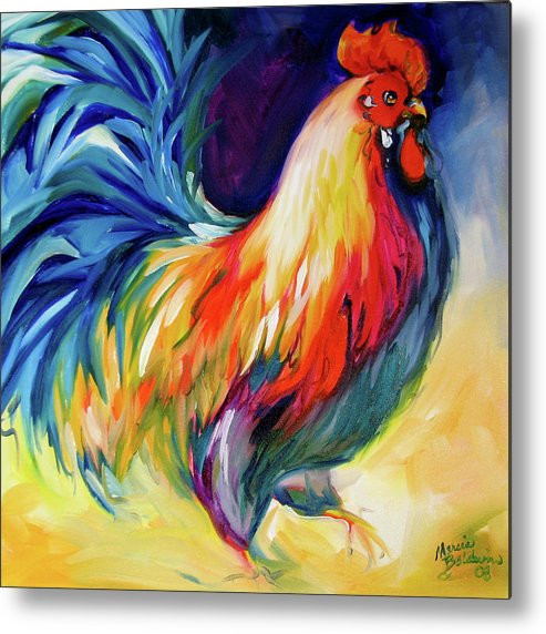 Rooster Metal Print featuring the painting Mister Show Rooster Art by Marcia Baldwin