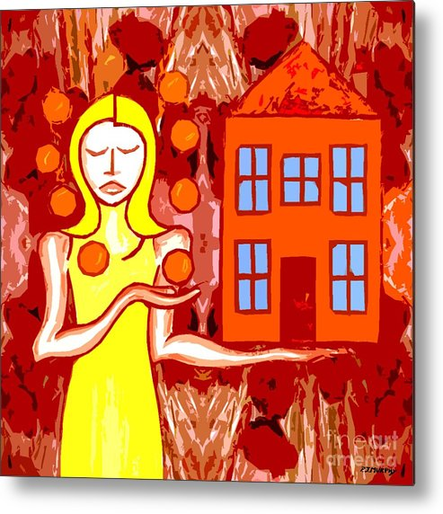 Woman Metal Print featuring the painting Modern Woman by Patrick J Murphy