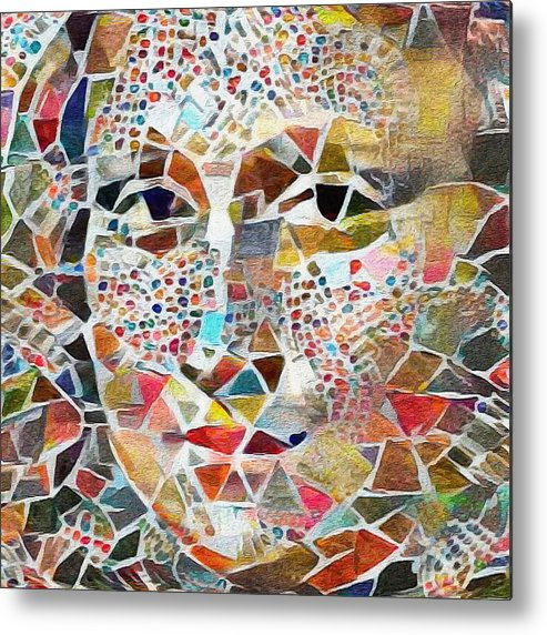 Mona Metal Print featuring the digital art Mona Lisa by Painterly Images