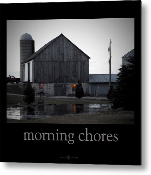 Poster Metal Print featuring the photograph Morning Chores by Tim Nyberg