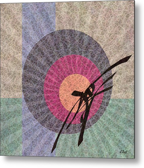 Contemporary Asian Japanese Oriental Abstract Design Gordon Beck Art Metal Print featuring the painting Morning Glory by Gordon Beck