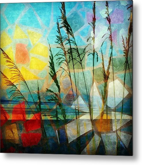 Landscape Metal Print featuring the photograph Mosaic Sea Oats by Mary Lewis
