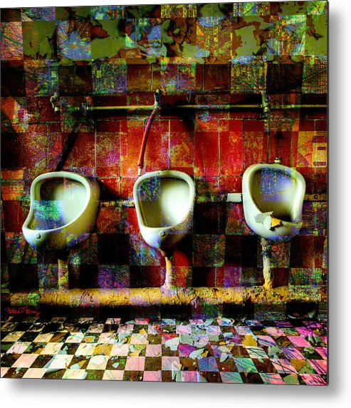 Marcel Duchamp Metal Print featuring the digital art Move Over Marcel by Barbara Berney