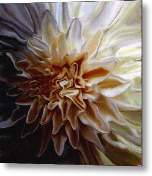 Flower Metal Print featuring the digital art My Exotic Flower by Andrea N Hernandez