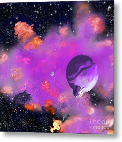 My Space Metal Print featuring the painting My Space by Methune Hively