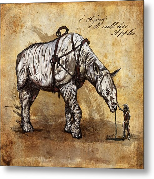 Cowboy Metal Print featuring the drawing Neobedouin - Cowboy by Mandem