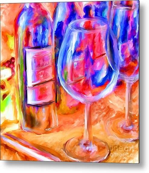 Wine Metal Print featuring the mixed media North Carolina Wine by Marilyn Sholin