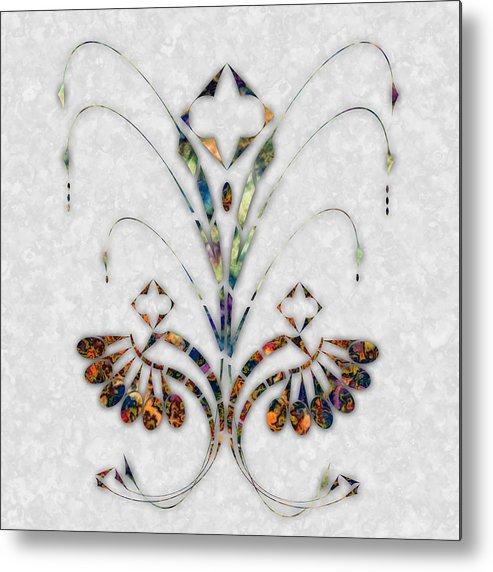 Art Nouveau Metal Print featuring the digital art Nouveau 4 by Gae Helton