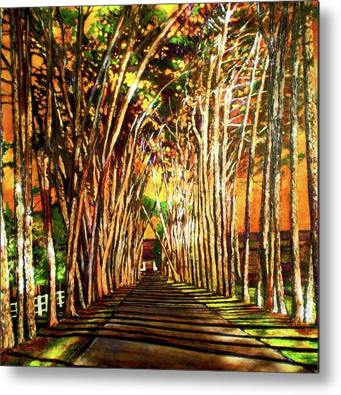 Vineyard Metal Print featuring the painting On The Road by Michael Durst