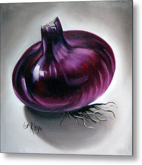 Kitchen Metal Print featuring the painting Onion by Ilse Kleyn