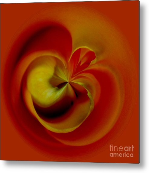 Flower Metal Print featuring the digital art Orb 2 by Elena Nosyreva