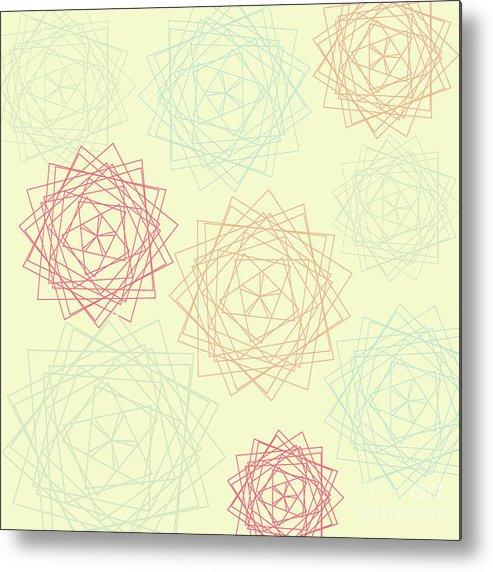 Origami Blooms Metal Print featuring the digital art Origami Blooms by Keri Fraser