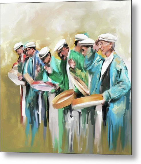 Hunza Metal Print featuring the painting Painting 800 1 Hunzai Musicians by Mawra Tahreem