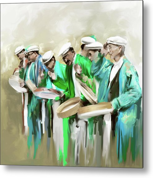 Hunza Metal Print featuring the painting Painting 800 2 Hunzai Musicians by Mawra Tahreem
