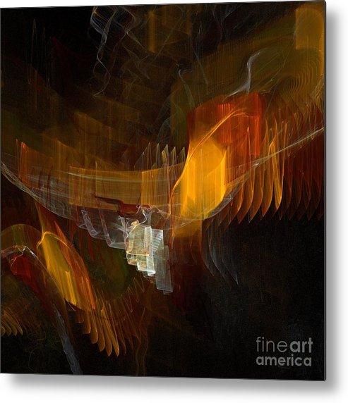 Square Metal Print featuring the digital art Passenger by Flavio Coelho