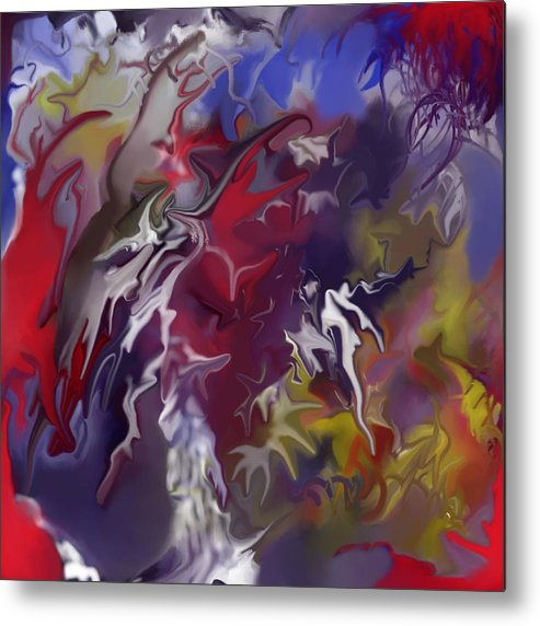 Abstract Metal Print featuring the painting Passion For Creating by Peter Shor