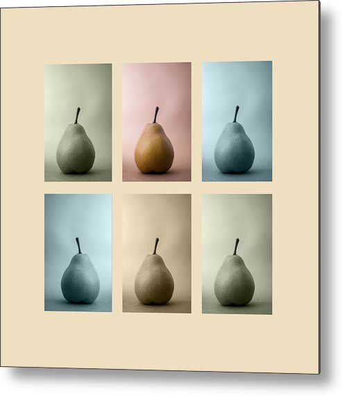 Pear Metal Print featuring the photograph Pears Squared by Carol Leigh