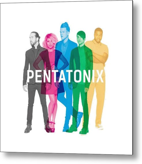 Pentatonix Metal Print featuring the digital art Pentatonix New Album Cover by Olivia Milner-Benham