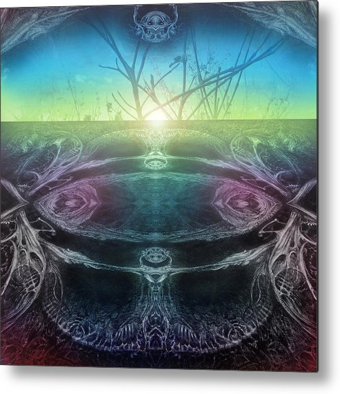 Digital Metal Print featuring the digital art Perpetual Motion Landscape by Otto Rapp