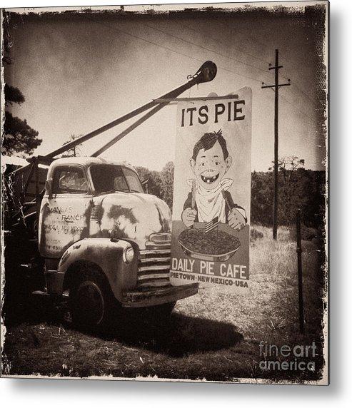 Pie Town Metal Print featuring the photograph Pie Town Sepia by Matt Suess