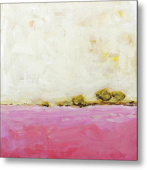 Landscape Painting Metal Print featuring the painting Pink Field by Clary Sage Moon