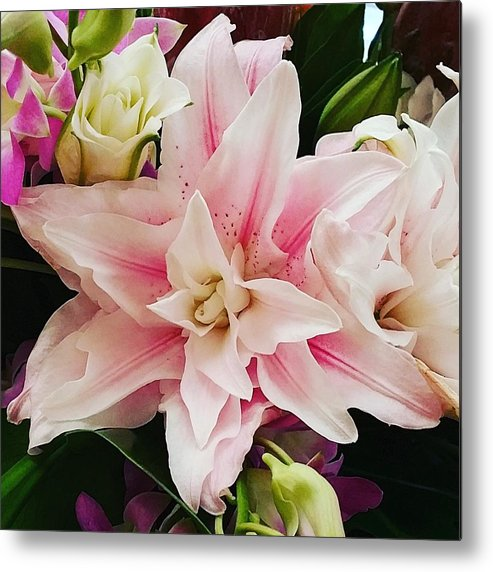 Flowers Metal Print featuring the photograph Pink Flower by Monica Wellman
