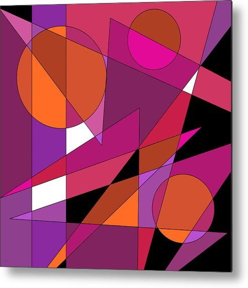 Pink Fusion Metal Print featuring the digital art Pink Fusion by Val Arie