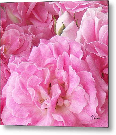 Rose Metal Print featuring the digital art Pink by Tom Romeo