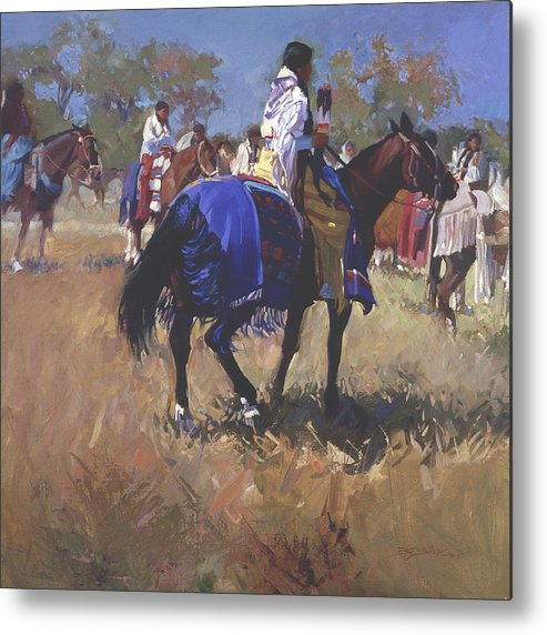 Horses Metal Print featuring the digital art Place Of The Sun L. E. P. by Betty Jean Billups