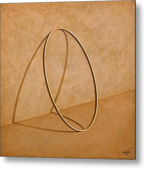 Wall Metal Print featuring the painting Plenty Of Emptiness by Horacio Cardozo