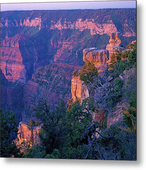 Arizona Metal Print featuring the photograph Point Imperial Sunrise 1-sq by Tom Daniel