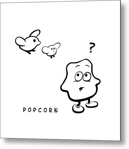 Popcorn Metal Print featuring the digital art Popcorn by Krister Lindberg