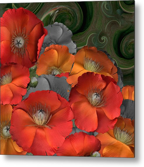 Poppy Metal Print featuring the photograph Poppy by Stan Bowman