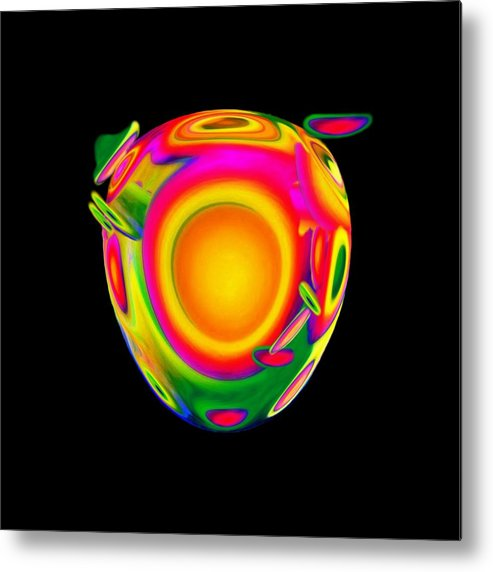 Egg Metal Print featuring the mixed media Possibilities by Jacqueline Migell