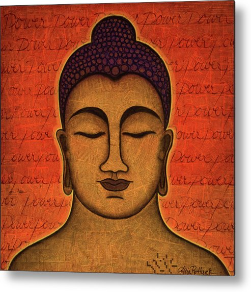 Buddha Metal Print featuring the painting Power by Gloria Rothrock
