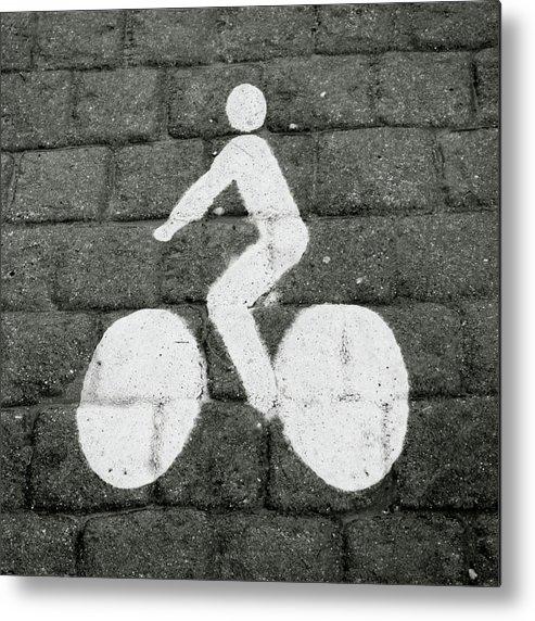 Prague Metal Print featuring the photograph Prague Bike Lane- By Linda Woods by Linda Woods