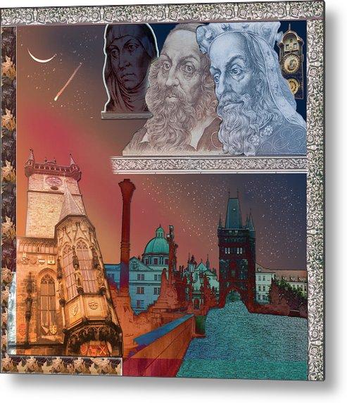 Prague Metal Print featuring the digital art Prague Daydream by John Scariano